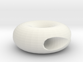 OneMinusOneTorus in White Natural Versatile Plastic