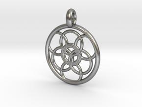 Lysithea pendant in Natural Silver