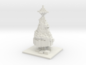 Minecraft Christmas Tree  in White Natural Versatile Plastic