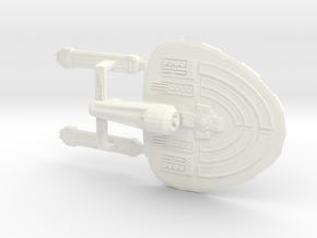 Federation Starship USS Gladstone in White Strong & Flexible Polished
