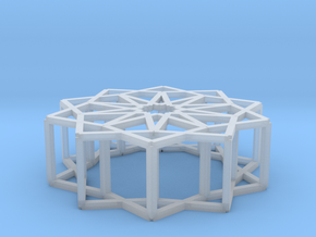 Cube Star Ornament 2.0 in Smooth Fine Detail Plastic