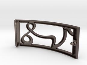 Belt buckle VS by SV in Polished Bronzed Silver Steel