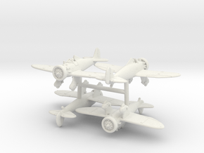 1/200 Boeing P-26A Peashooter (x4) in White Natural Versatile Plastic