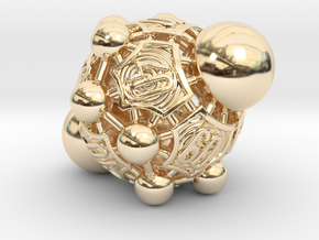 Nucleus D00 in 14k Gold Plated Brass