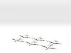 1/700 Scale Convair B-36 Bomber in White Natural Versatile Plastic