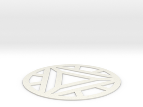 Arc Reactor Mark IV in White Natural Versatile Plastic