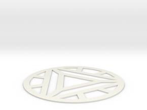 Arc Reactor Mark IV in White Natural Versatile Plastic