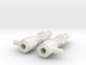 Echo Herc kit V5  Thigh missiles Only in White Natural Versatile Plastic