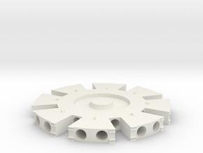 Arc Reactor #2 D in White Natural Versatile Plastic
