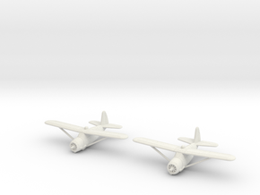 1/200 Curtiss O-52 Owl (x2) in White Natural Versatile Plastic