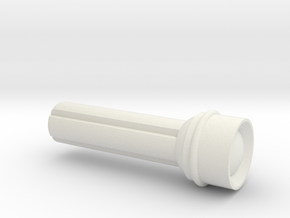 4mm grip Flashlight for ModiBot in White Natural Versatile Plastic