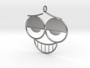The Grin Pendant/Earring in Raw Silver