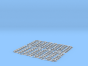 Check Rail Chairs 1.25mm Eight Pack in Smooth Fine Detail Plastic