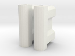 BP8_OS & V2 battery spacer in White Natural Versatile Plastic