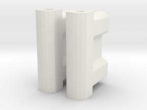 BP8_OS & V2 battery spacer in White Natural Versatile Plastic