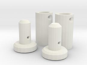 BP8_OS & V2 body shell carrier in White Natural Versatile Plastic