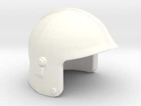 Fire Helmet Gallet in White Strong & Flexible Polished