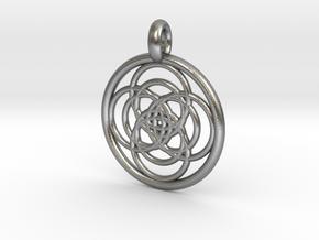 Iocaste pendant in Natural Silver