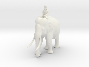 indianelephant rider 280mm in White Strong & Flexible