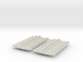 1/1200 LCI(L) (Round Bridge - Side Ramps) (x18) in White Natural Versatile Plastic