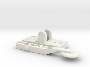 Straight Key in White Natural Versatile Plastic