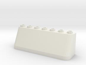 Windscreen 7stud (Test) in White Natural Versatile Plastic