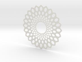 Pendent  in White Natural Versatile Plastic