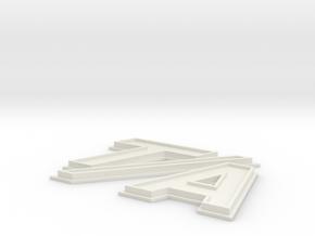TA Badge Final in White Natural Versatile Plastic