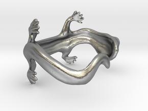 lizard bracelet in Natural Silver