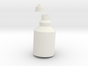 Little Bottle in White Natural Versatile Plastic
