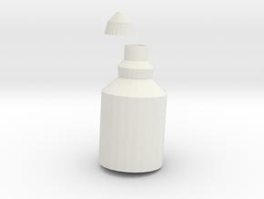 Little Bottle in White Natural Versatile Plastic