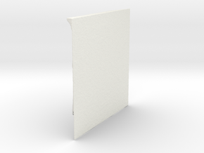 TopOpt Stiffened Quarter Panel 180-180-9-28 in White Natural Versatile Plastic