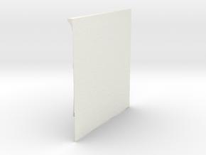 TopOpt Stiffened Quarter Panel 180-180-9-28 in White Natural Versatile Plastic