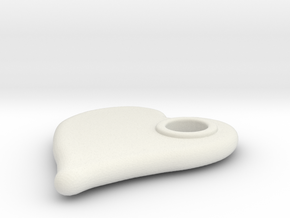 Merged Skin Cylinder3D2 deci in White Natural Versatile Plastic
