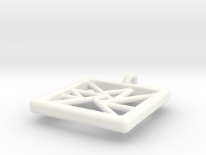 trigon varia pendant III in White Processed Versatile Plastic