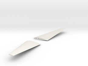 X305 Aircraft - Wings in White Natural Versatile Plastic