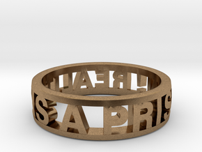 Reality Ring (various sizes) in Natural Brass