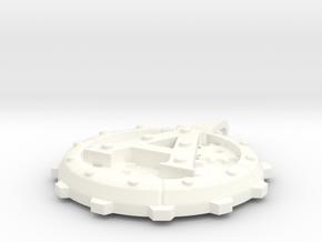"Steampunk Monogram Pendant ""A"" in White Processed Versatile Plastic"