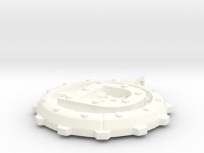 """Steampunk Monogram Pendant """"D"""" in White Processed Versatile Plastic"""