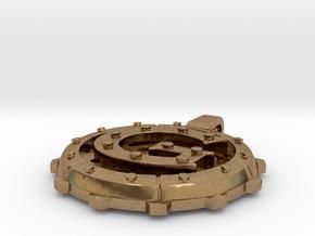 "Steampunk Monogram Pendant ""G"" in Natural Brass"