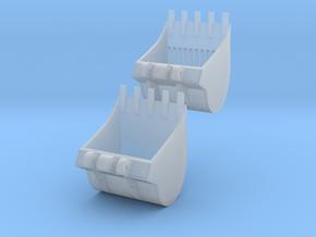Tief- und Sieblöffel Set für herpa Liebherr Litron in Smooth Fine Detail Plastic