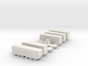 1/700 Goods Cargo Train Set in White Natural Versatile Plastic