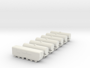 1/700 Oil Cargo Train Set in White Natural Versatile Plastic