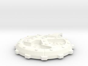 """Steampunk Monogram Pendant """"K"""" in White Processed Versatile Plastic"""