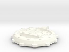 """Steampunk Monogram Pendant """"L"""" in White Processed Versatile Plastic"""