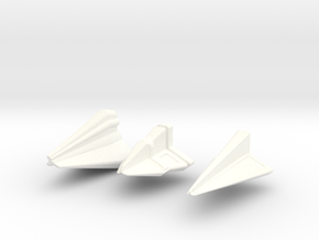 Tholian Fleet in White Processed Versatile Plastic