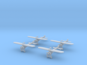 1/300 Bleriot XI Parasol (x4) in Smooth Fine Detail Plastic
