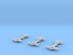 """Orca"" Gunships (3) in Smooth Fine Detail Plastic"