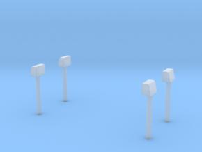 Blaulichter für Econic Aufbauten-Hinten in Smooth Fine Detail Plastic
