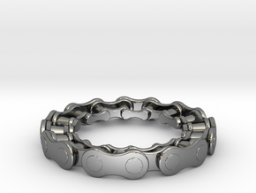 RS CHAIN RING SIZE 6.5 in Fine Detail Polished Silver